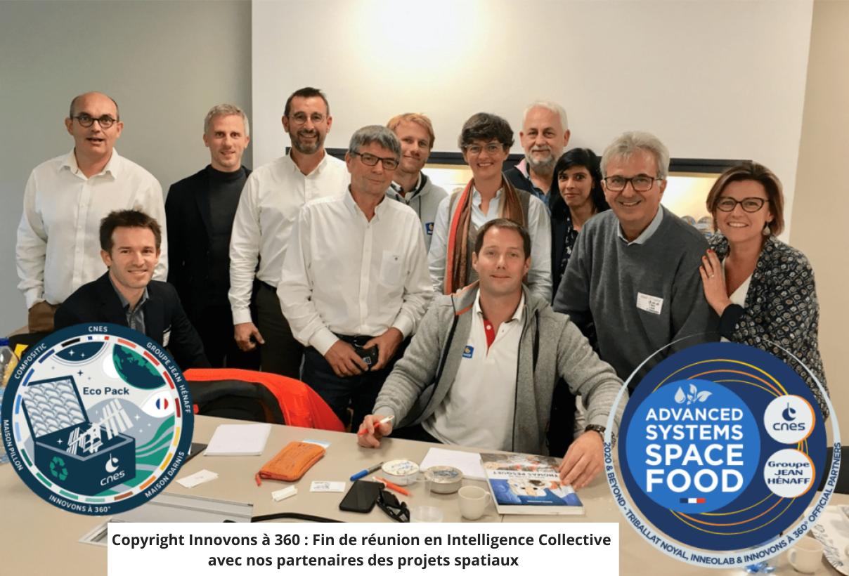 Innovons à 360 Fin de réunion en Intelligence Collective avec nos partenaires des projets spatiaux